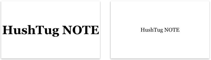 e40d4900dcab7 左はサイズいっぱいに大きく書いたのに対し、右はあえて中央に小さく書いた。感覚的に右がより高級感を演出していることを共感して頂けるだろうか。