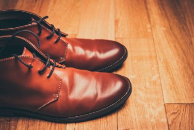 クロム鞣しの靴